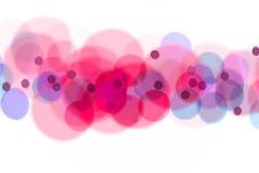 蓝色bokeh粉红色 库存图片