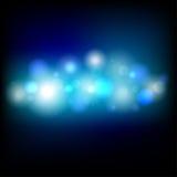 蓝色Bokeh背景传染媒介 库存图片