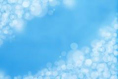 蓝色Bokeh背景 免版税库存图片