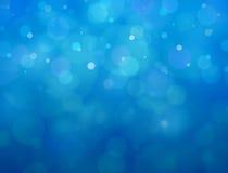 蓝色bokeh背景 库存照片