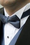 蓝色bowtie 免版税图库摄影