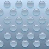 蓝色Bubblewrap背景 免版税库存图片