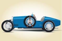 蓝色Bugatti 37A 免版税库存照片