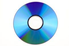 蓝色cd查出的白色 免版税库存图片