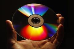 蓝色CD的光盘dvd光芒 免版税图库摄影