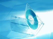 蓝色CD的口气 库存图片
