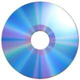 蓝色CD的媒体纹理 库存图片