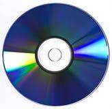 蓝色CD的盘dvd光芒 免版税图库摄影