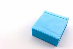 蓝色CD的纸盒 库存照片