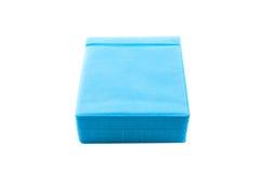 蓝色CD的纸盒 库存图片