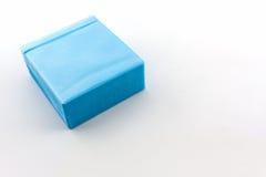 蓝色CD的纸盒 免版税库存图片