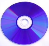 蓝色CD的dvd rom 库存图片