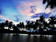 蓝色celenial湖 库存照片