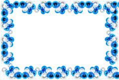 蓝色chistmas框架 图库摄影