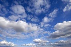 蓝色cloudscape天空 库存照片