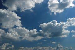 蓝色cloudscape天空 图库摄影