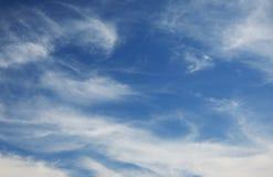 蓝色cloudscape 免版税库存照片
