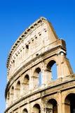蓝色colosseum罗马天空 免版税库存图片