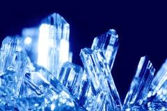 蓝色cyrstals 免版税图库摄影