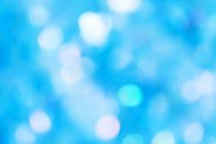 蓝色defocused光背景 免版税库存图片