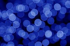 蓝色defocused光 库存照片