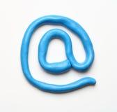 蓝色e邮件符号 免版税库存照片
