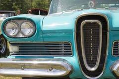 1958蓝色Edsel引证车灯 免版税图库摄影