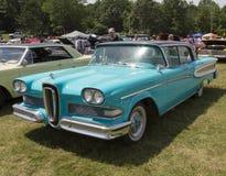 1958蓝色Edsel引证 图库摄影