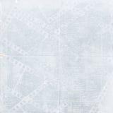 蓝色filmstrip grunge老纸张 免版税库存照片