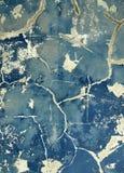 蓝色grunge墙壁 库存图片