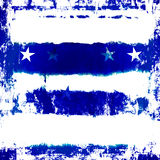 蓝色grunge星形 库存图片