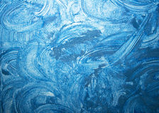 蓝色grunge纹理 免版税库存照片