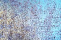 蓝色grunge背景 尘土覆盖物和困厄背景wi 图库摄影