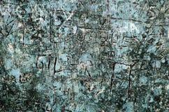 蓝色grunge背景 库存照片