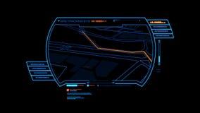 蓝色HUD GPS全息图接口图表元素