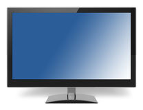 蓝色Lcd电视显示器 免版税库存照片