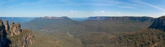 蓝色Montains全景, NSW,澳大利亚 库存图片
