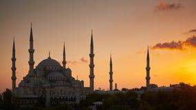 蓝色Mosk在伊斯坦布尔 免版税库存照片