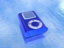 蓝色MP3播放器 库存图片