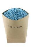 蓝色NPK化合物肥料 免版税图库摄影