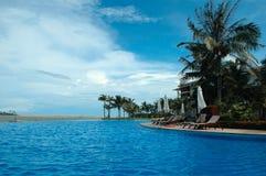蓝色pool2游泳 免版税库存照片
