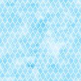 蓝色quaterfoil背景 免版税库存图片