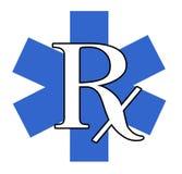 蓝色rx白色 免版税库存照片