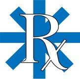 蓝色rx 库存照片