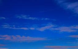 蓝色skyAnd一自然cloudAbstract 库存照片