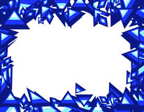 蓝色trianges 免版税库存图片