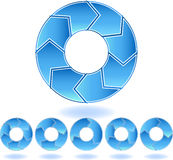 蓝色V形臂章绘制 免版税库存图片
