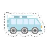 蓝色van icon图象 免版税库存图片