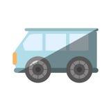 蓝色van icon图象 库存图片