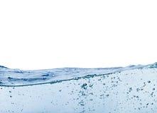 蓝色vawe水 免版税库存照片